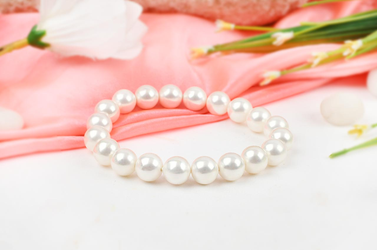 White Pearl Bracelet - 10mm