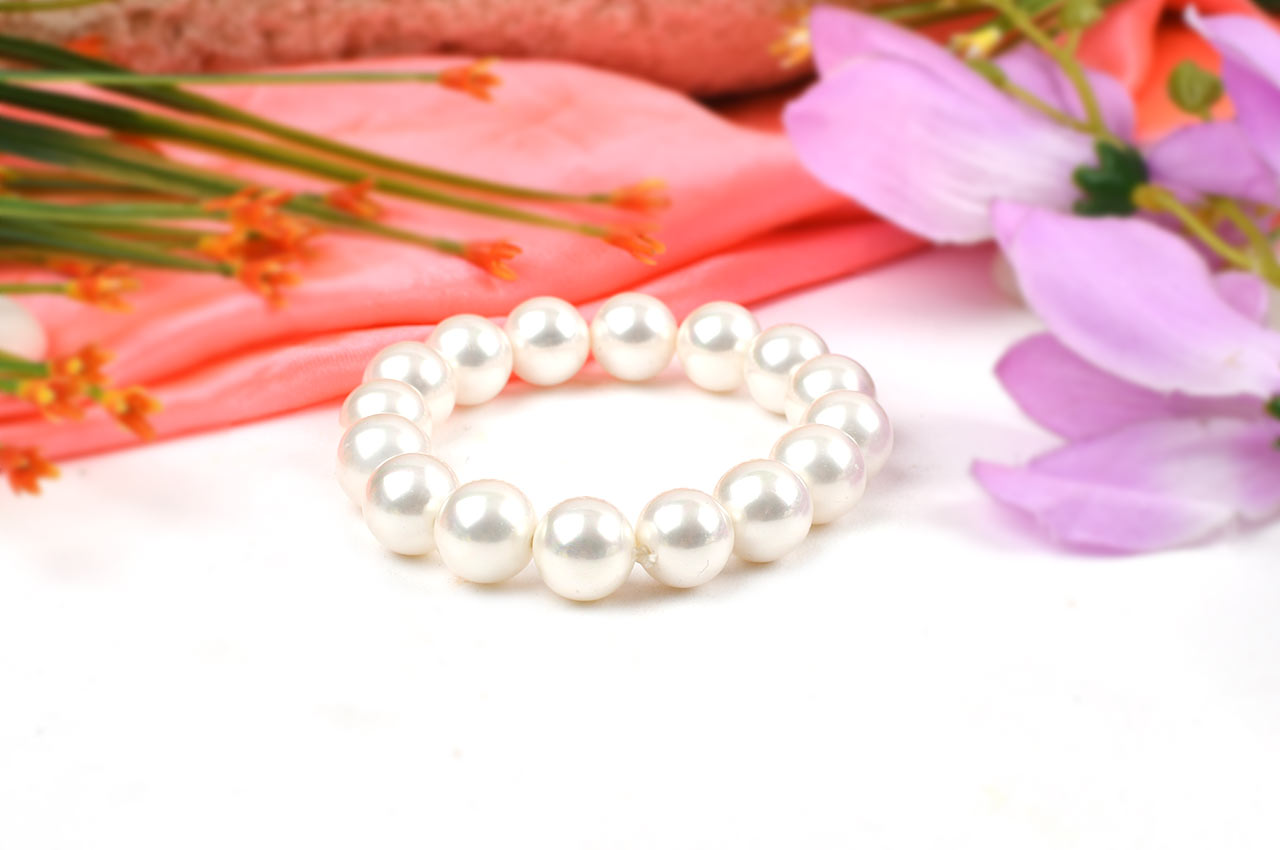 White Pearl Bracelet - 12mm