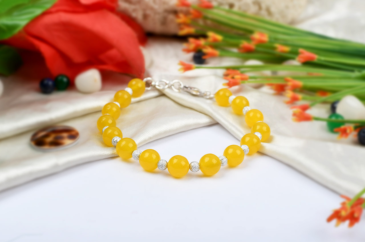 Yellow Agate Bracelet - Design II