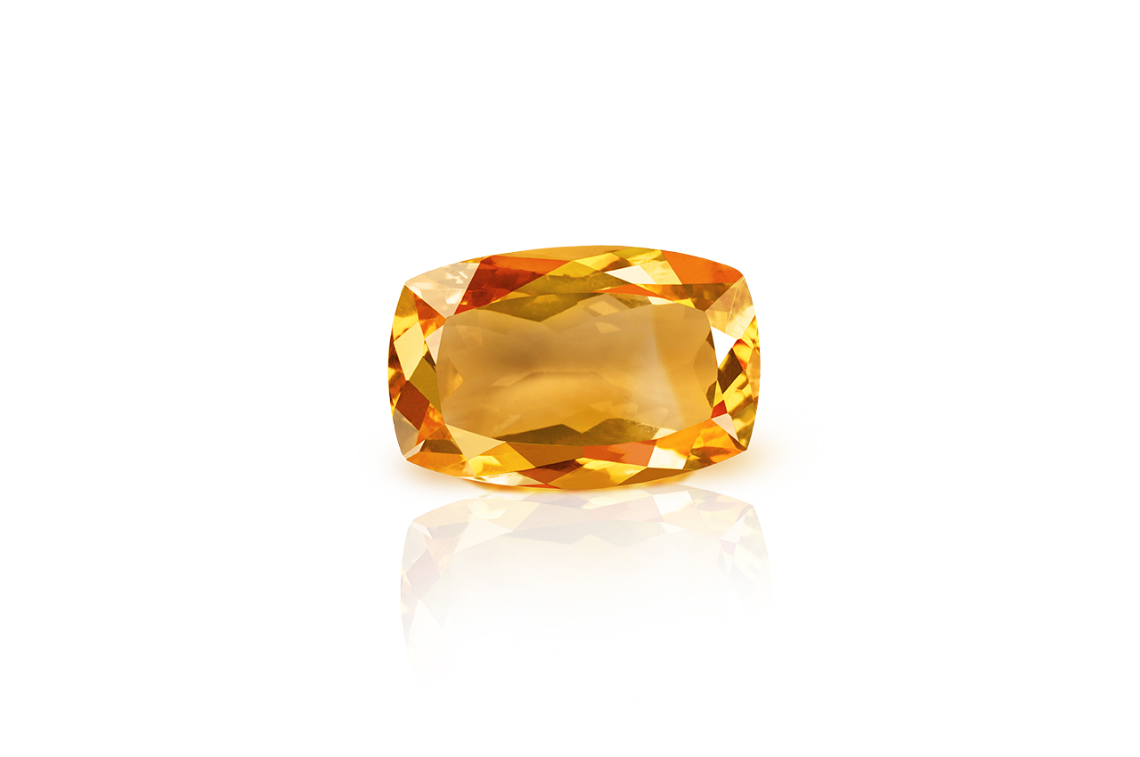 Yellow Citrine - 16.20 carats - Cushion