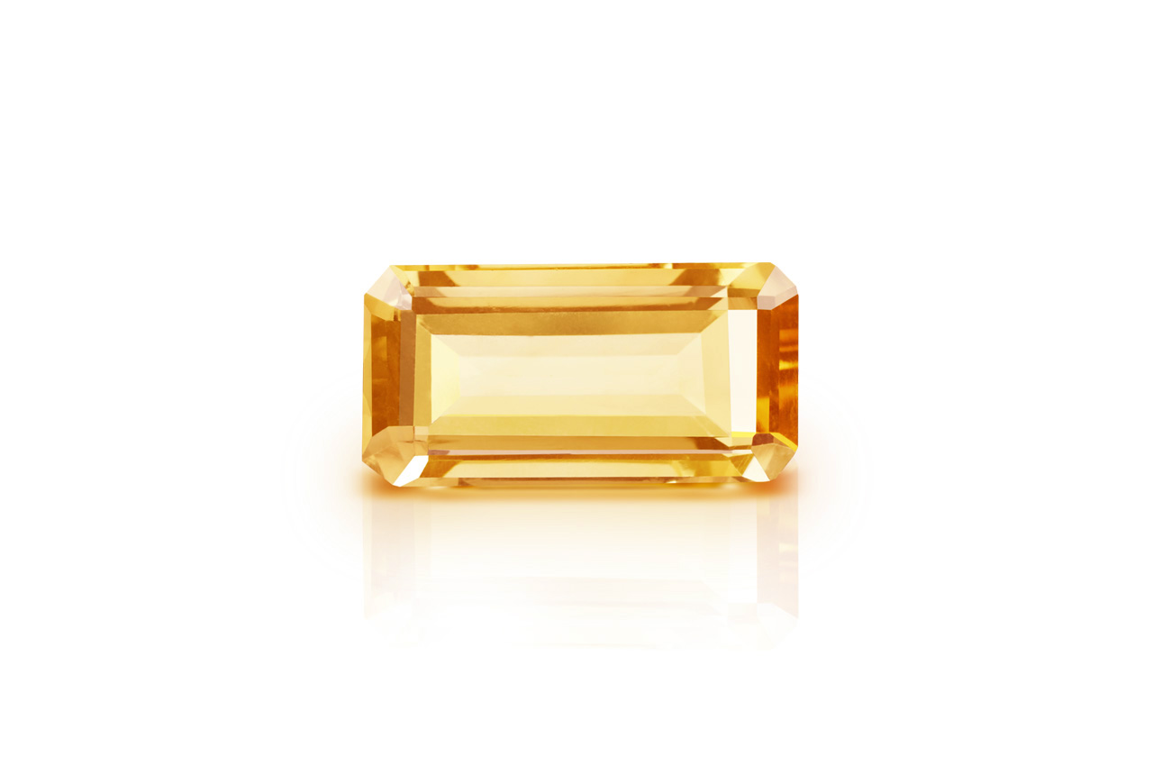 Yellow Citrine - 6.30 carats - Emerald