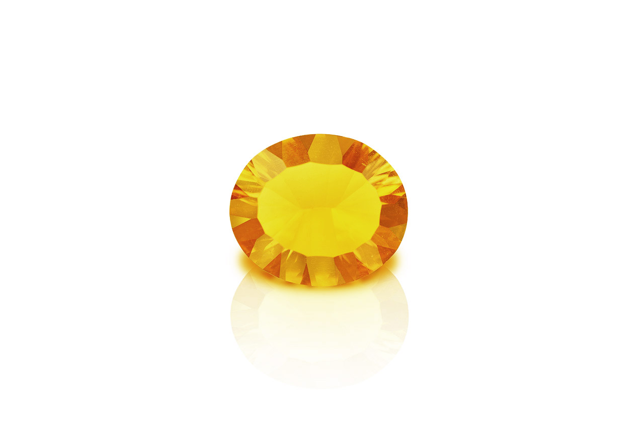 Yellow Citrine Superfine Cutting - 5 to 6 carats - Oval