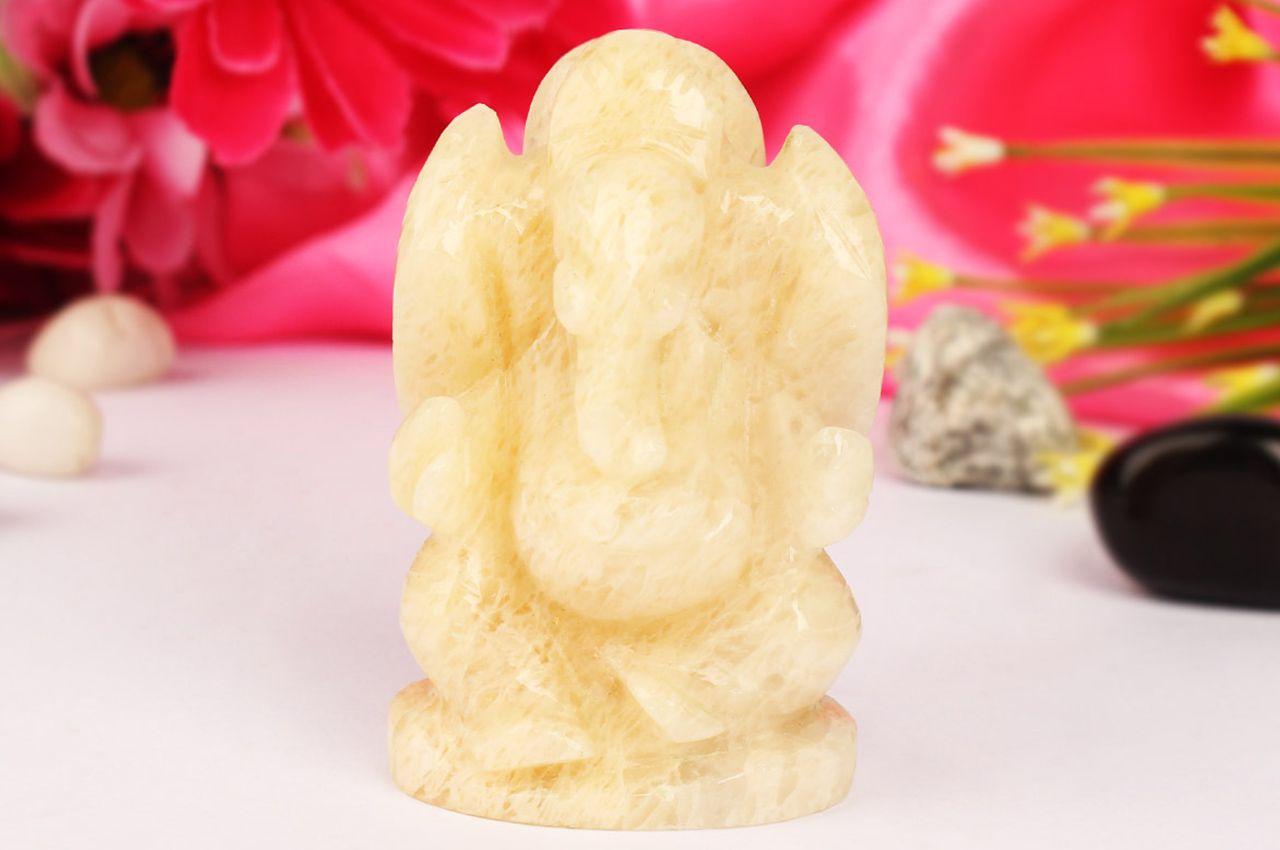 Yellow Jade Ganesha - 120 gms