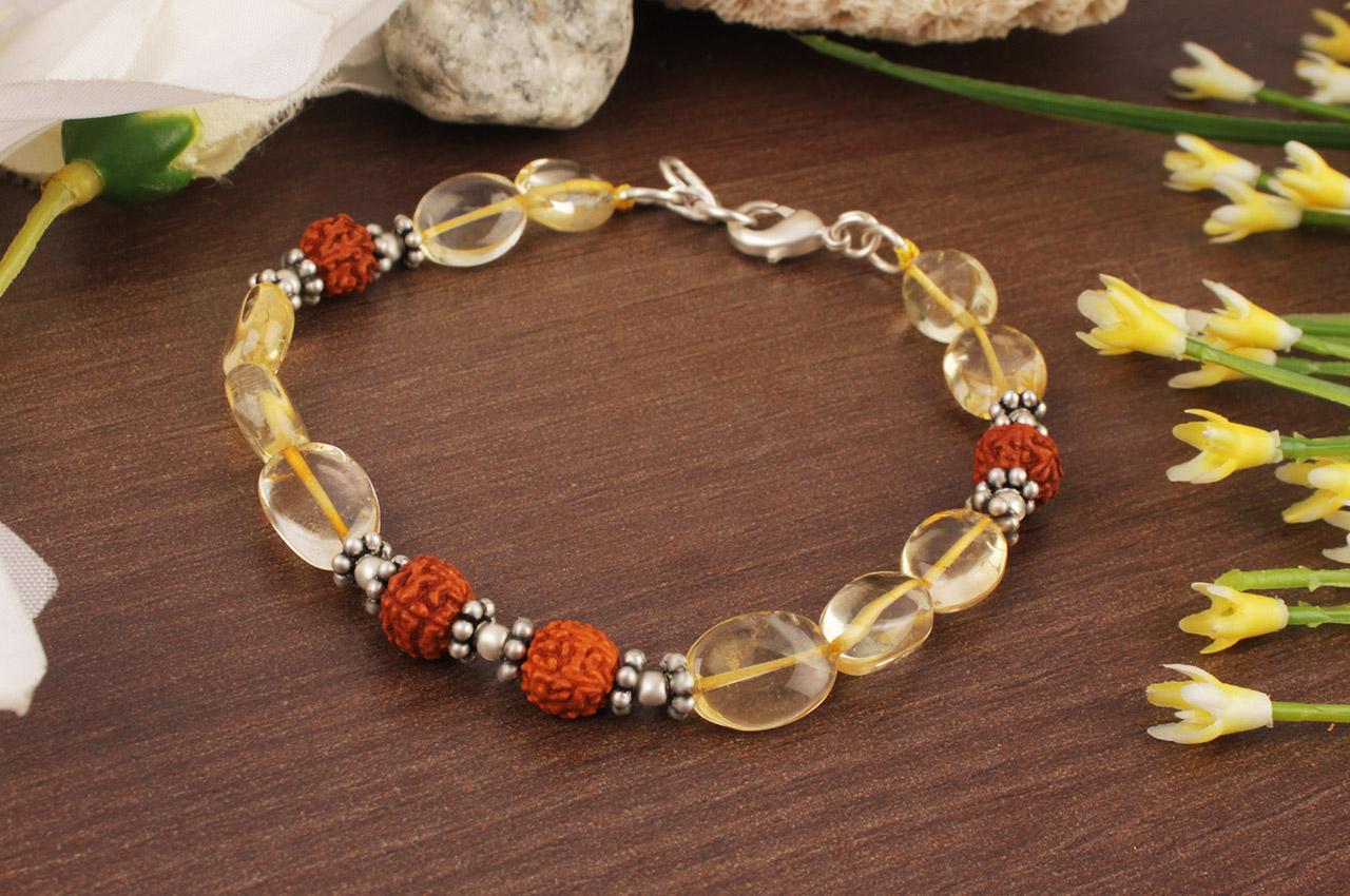 Citrine Oval Bracelet