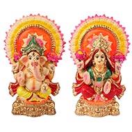 Ganesh and Laxmi idol set
