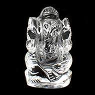 Ganesh Idol in pure quartz - 22 gms
