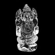 Ganesh Idol in pure quartz - 34 gms - I