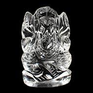 Ganesh Idol in pure quartz - 38 gms