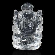 Ganesh Idol in pure quartz - 56 gms - I