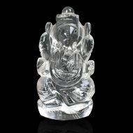 Ganesh Idol in pure quartz - 62 gms