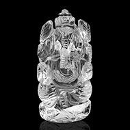 Ganesh Idol in pure quartz - 98 gms