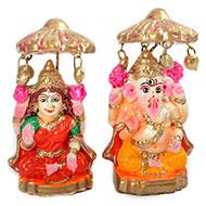 Diwali Ganesh Laxmi Clay Idols