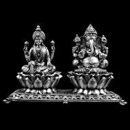 Ganesh Laxmi in pure Silver