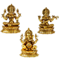 Ganesh Laxmi  Saraswati Idol