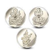 Ganesh-Laxmi-Saraswati Yantra Coin Set