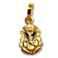 Ganesh Locket - in Pure Gold - Design III