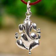 Ganesh Locket - in Pure Silver - Design XI
