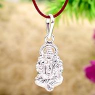 Ganesh Locket in Pure Silver - Design XIX