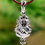 Ganesh Locket in Pure Silver - Design XXVIII