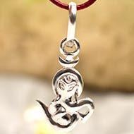 Ganesh Locket - in Pure Silver - Design XXX