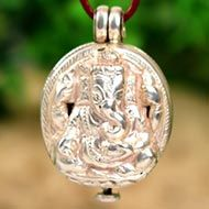 Ganesh Locket - in Pure Silver - Design XXXVI