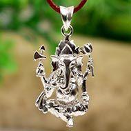Ganesh Locket in Pure Silver - Design XXXVII