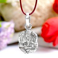 Ganesh Locket in Pure Silver - XCII