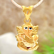 Ganesh Pendant in Gold - 1.1 gms - I