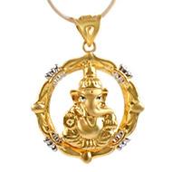 Ganesh Pendant in Gold - 2.9 gms