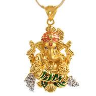 Ganesh Pendant in Gold - 4.2 gms