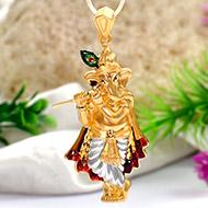 Ganesh Pendant in Gold - 5.8 gms