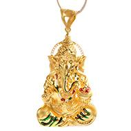 Ganesh Pendant in Gold - 7.4 gms