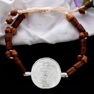 Ganesh Yantra in Silver bracelet