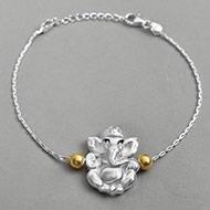 Ganesha Design Rakhi in pure silver - II