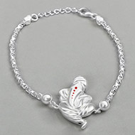 Ganesha Design Rakhi in pure silver