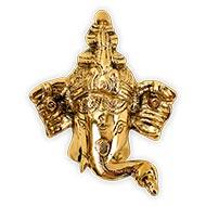 Ganesha Face in Brass - Wall Artifact - Small