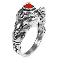 Ganesha Face Ring