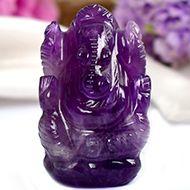 Ganesha in Amethyst - 20 gms - II