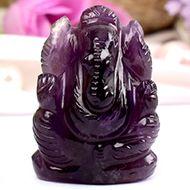 Ganesha in Amethyst - 21 gms