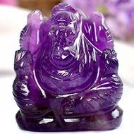 Ganesha in Amethyst - 22 gms