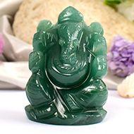 Ganesha in Austrailian Green Jade - 89 gms