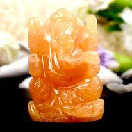 Ganesha In Yellow Jade - 86 gms