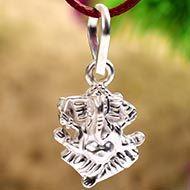 Ganesha Locket in Silver - I