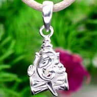 Ganesha Locket in Silver - III