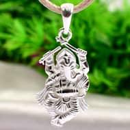 Dancing Ganesha in pure silver