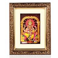 Ganesha on Lotus Frame