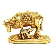 Gaumata with Calf in Brass - IV
