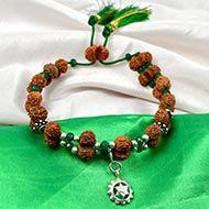 Gauri Shankar Rudraksha and Emerald Bracelet - I (Heart)