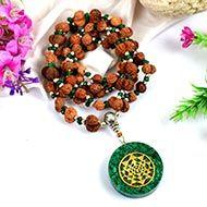 Gauri Shankar Rudraksha and Emerald Mala (Heart)