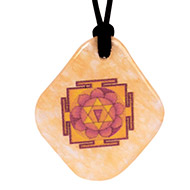 Gayatri Yantra Pendant on Yellow Jade